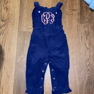 Other - CPP monogrammed corduroy overalls
